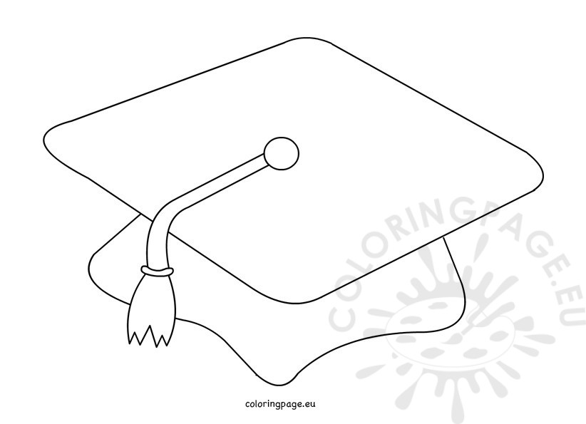 Graduation Cap Black And White
