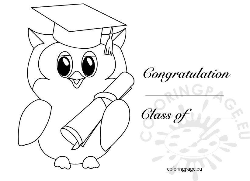 Kindergarten graduation owl 2