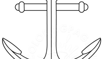 anchor template - Anchor Coloring Page