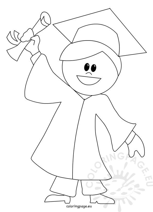 Child graduation cartoon