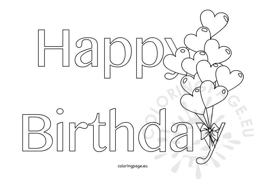 Happy Birthday hearts shape balloons