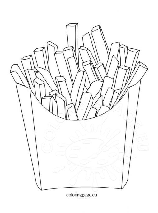Food Coloring Page Potato Chips