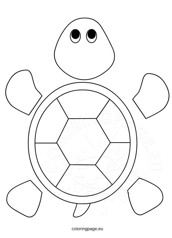 Turtle template for preschool