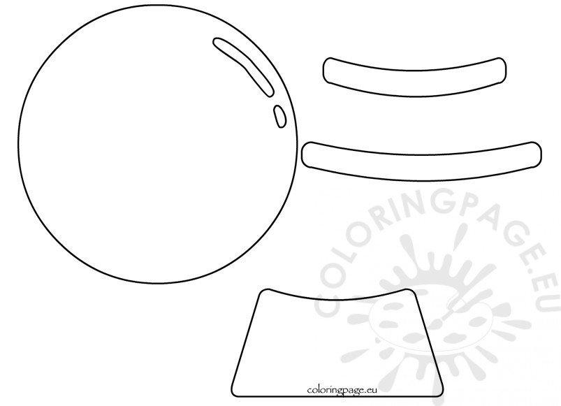 Printable Snow Globe Shape Template