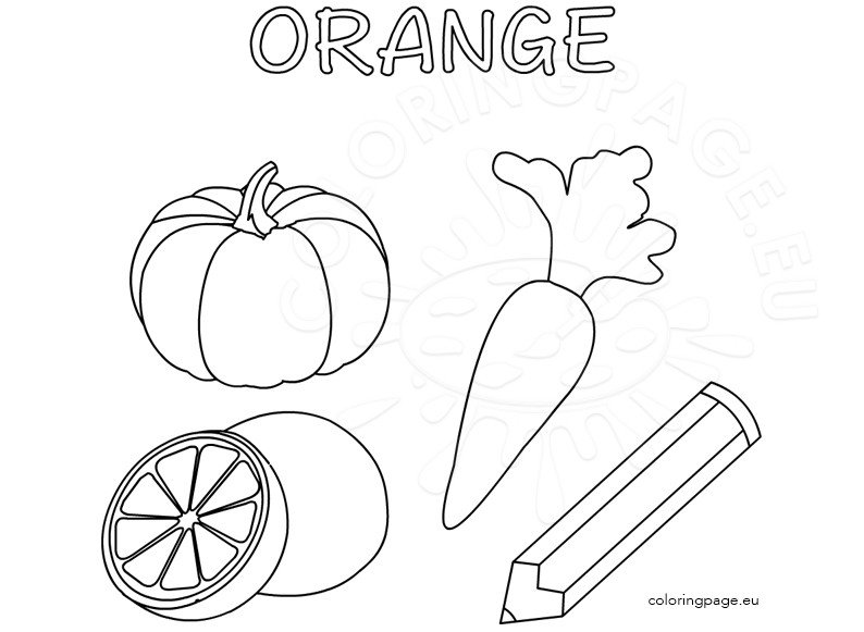 Color Activity Sheet Orange Color