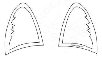 Printable Cat Ear Template Cut Out Coloring Page