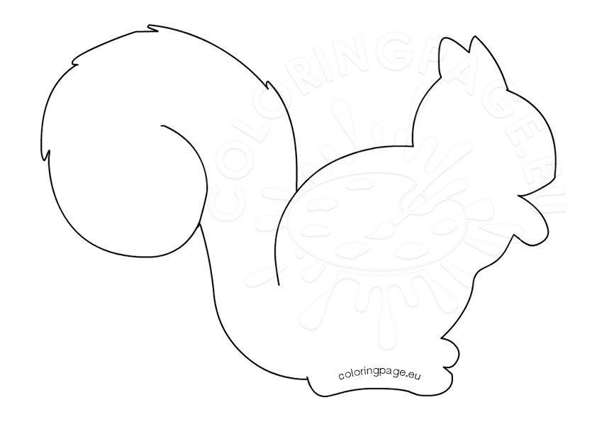 Squirrel Silhouette printable