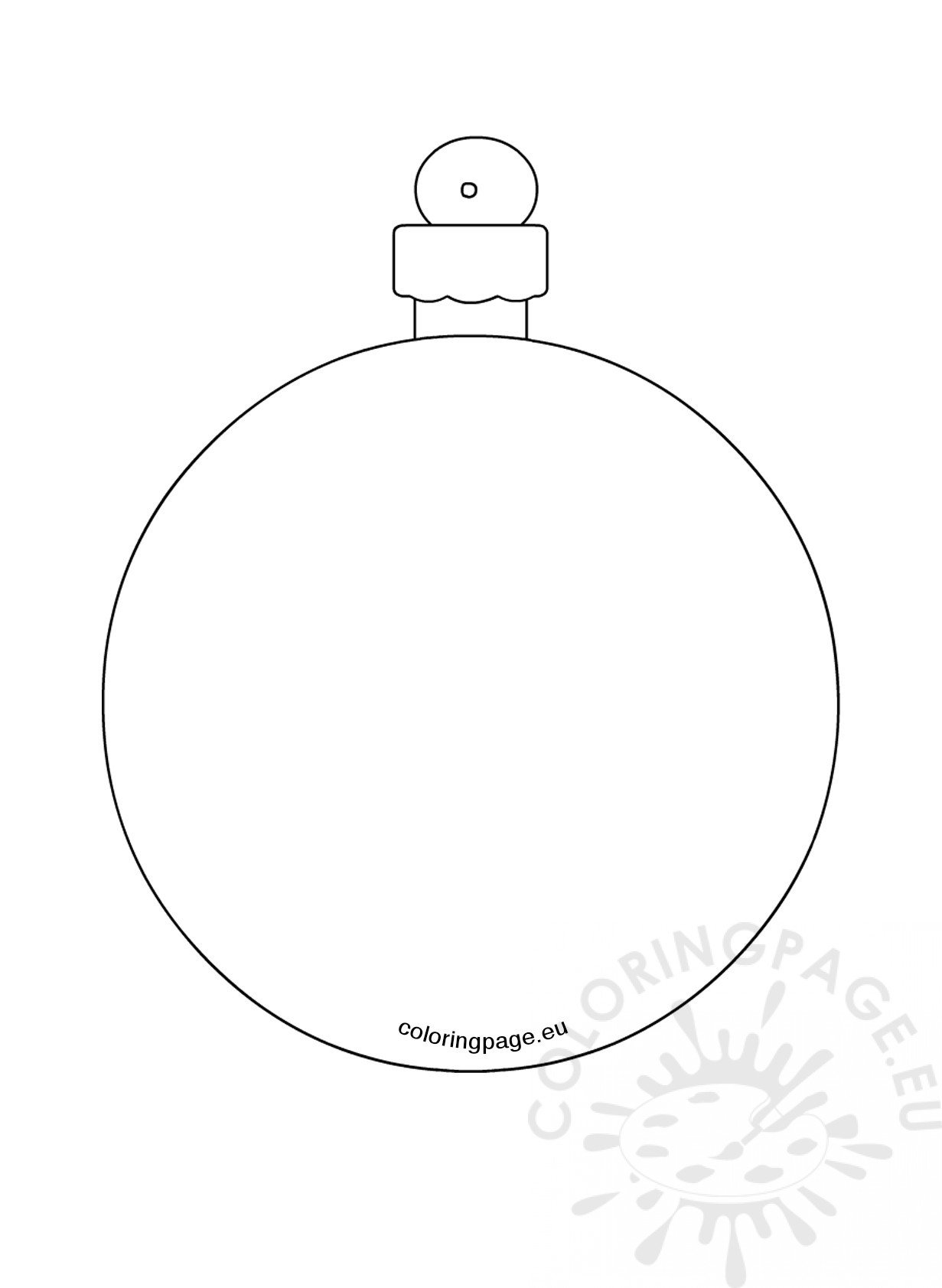 Christmas Tree Bauble Coloring Page
