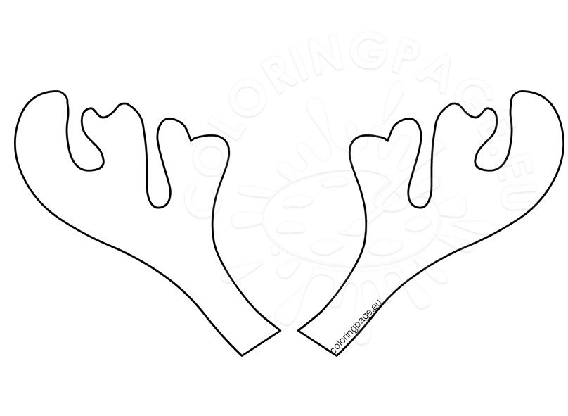 picture about Printable Antlers known as Reindeer Antler Template Printable Coloring Webpage