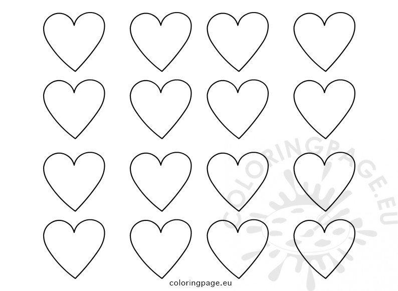 Set Printable Heart Templates