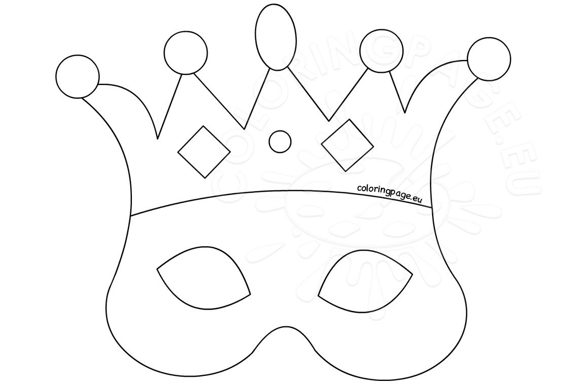 Paper crown party favor template