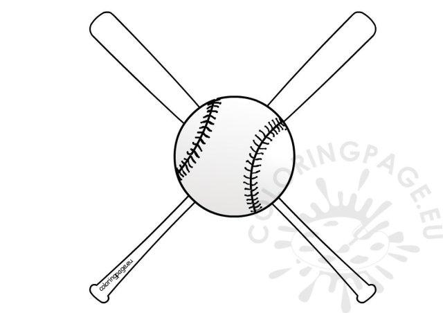 Baseball bats and ball coloring Sheets – Coloring Page