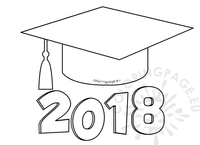 Graduation 2018 coloring page