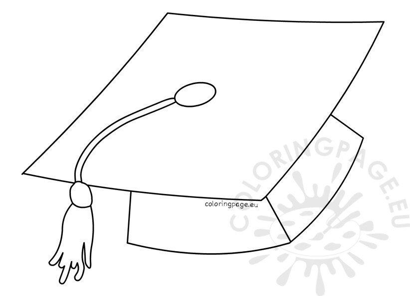 Graduation Cap Coloring Page Coloring Pages
