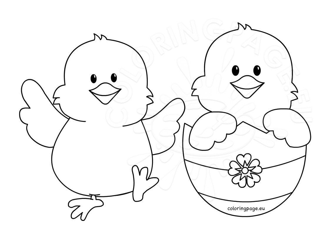 Easter chicks templates
