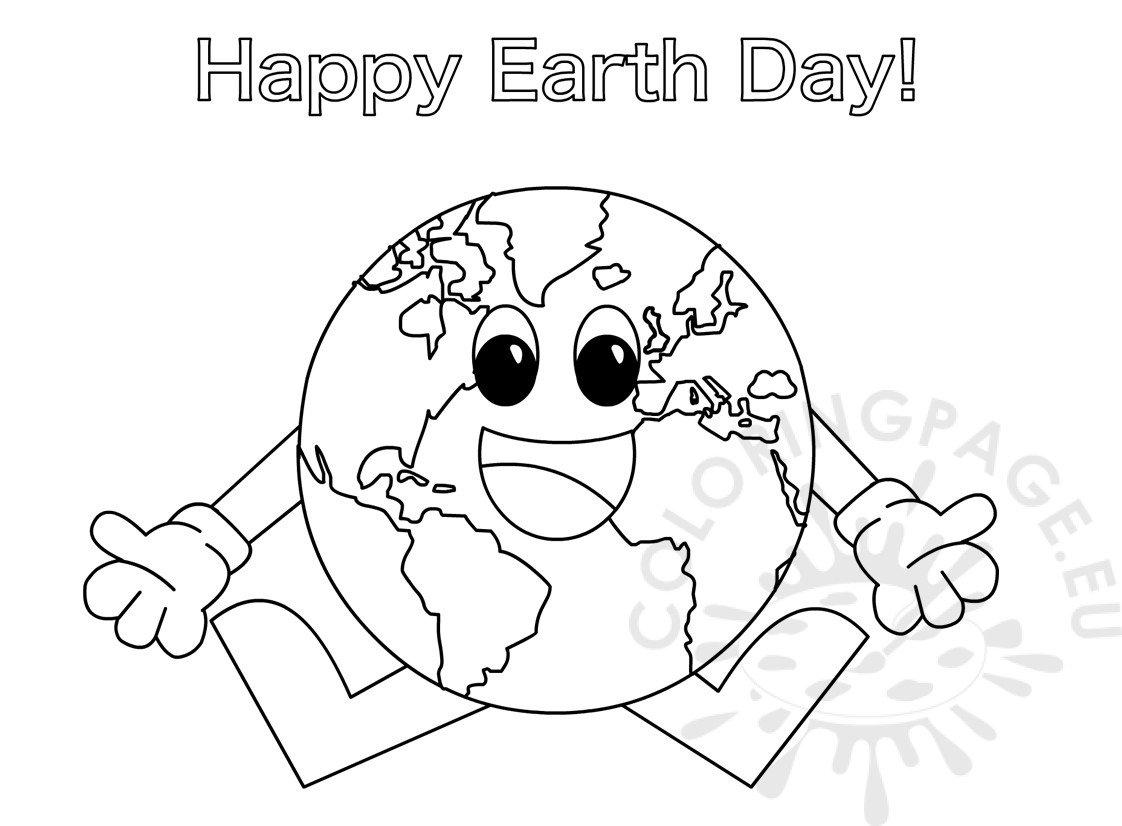 Earth Day Coloring Page For Preschoolers Coloring Page