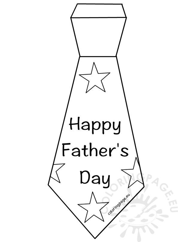 Happy Father's Day Tie template