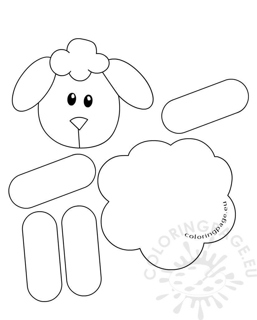 Lamb Paper craft for preschool