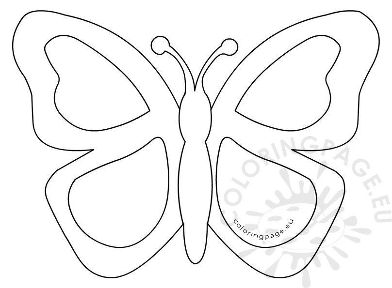 Simple butterfly stained glass template