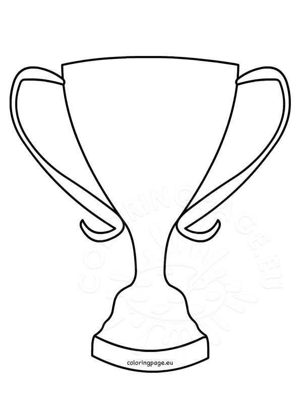 Trophy Coloring Page Winner cup shape