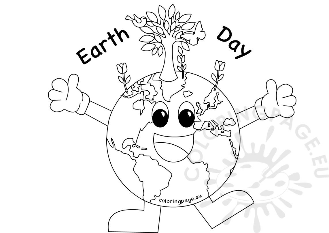 Earth Day Coloring Sheet Coloring Page