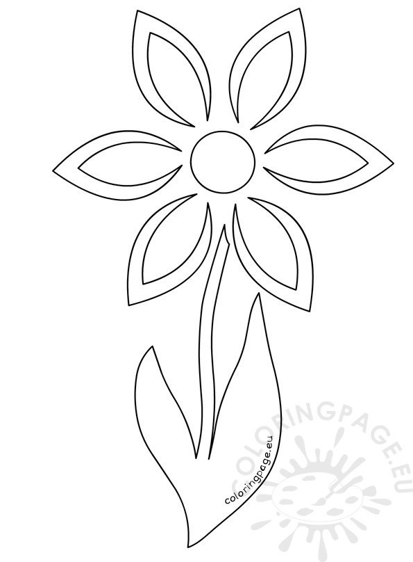 Daisy flower stem template