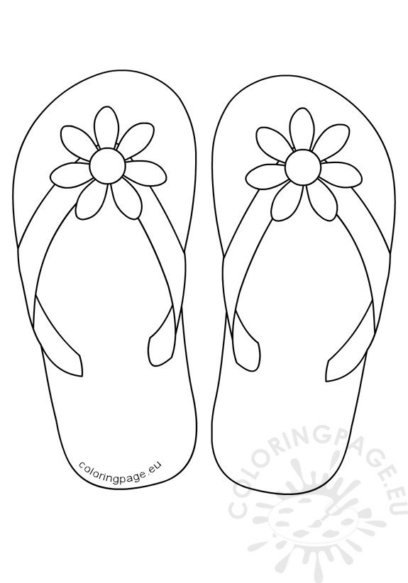 Flip flops daisy flower button