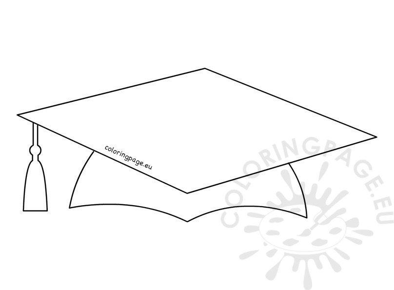 Printable School Graduation Cap Pattern