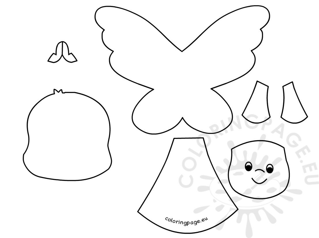 Cute angel paper templates printable