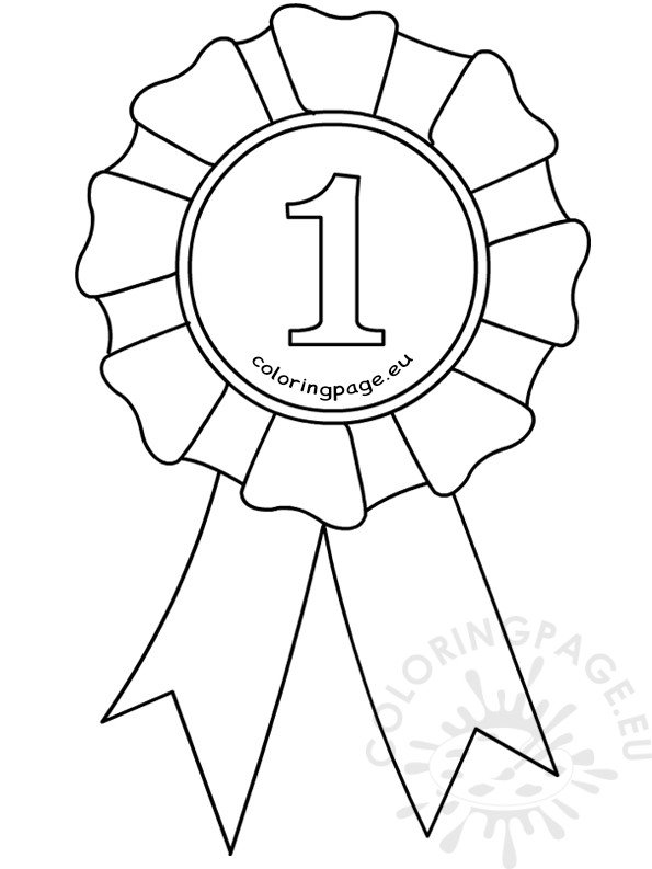 Award Ribbon Printable Coloring Pages Coloring Pages