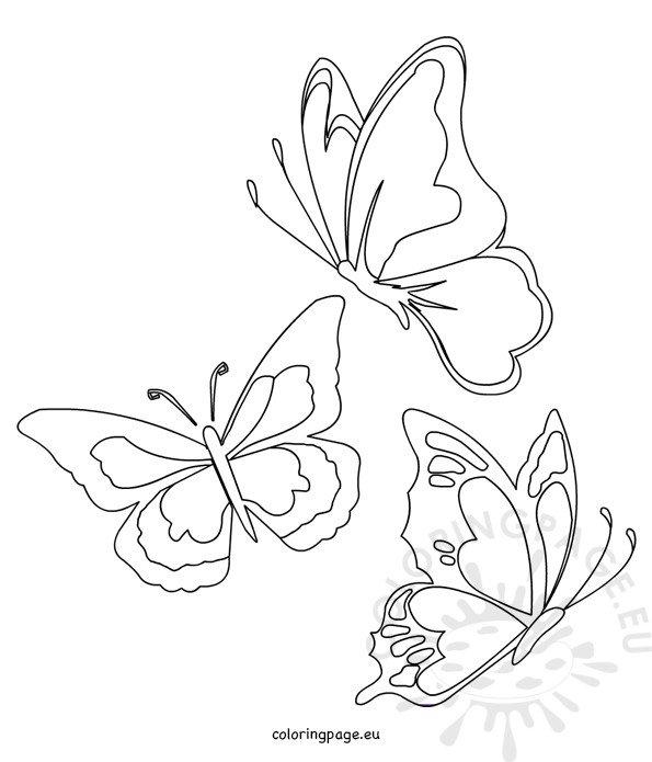 Butterflies shapes templates
