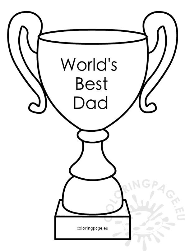 father's day trophy printable