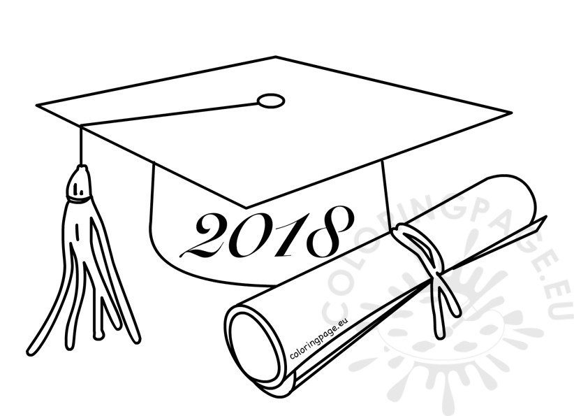 Class of 2018 Graduation cartoon drawing