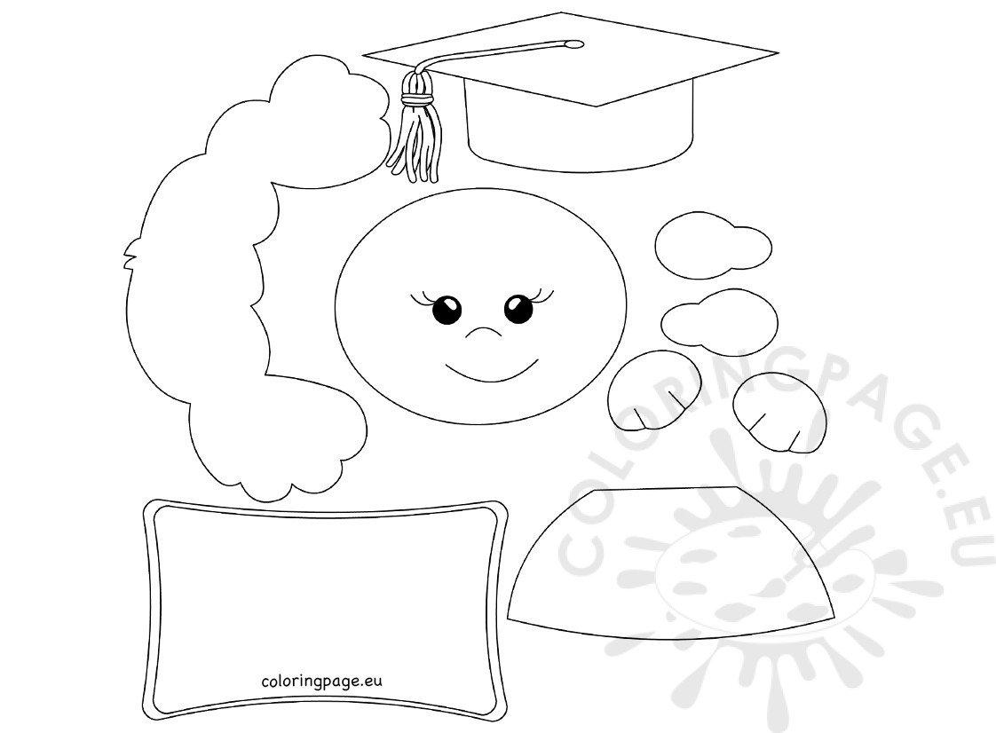Happy Graduation Kid Printable Templates Coloring Page