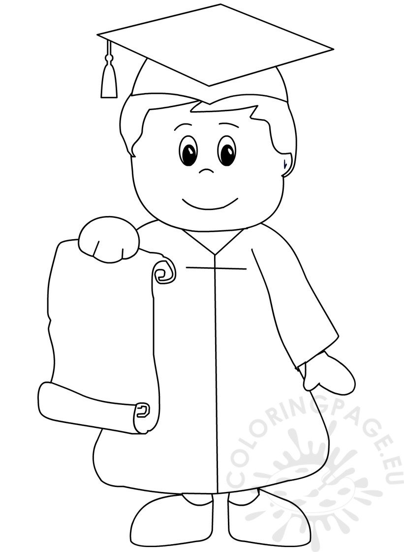 Kindergarten Graduation coloring page for preschool ... | printable coloring pages for kindergarten
