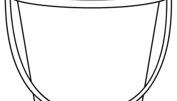 Red Sand Beach Bucket | Coloring Page