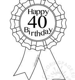 coloring pages for 40th birthday [ 826 x 1102 Pixel ]