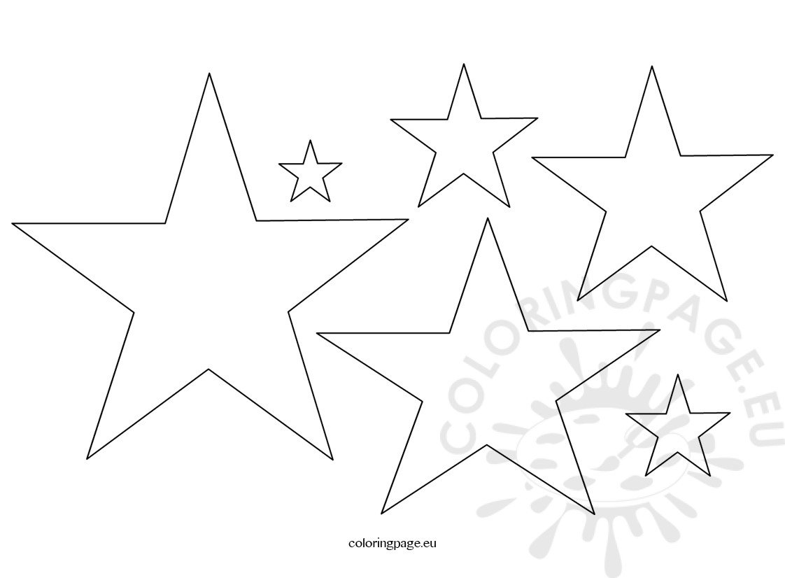 Five Pointed Star Shape Coloring Page