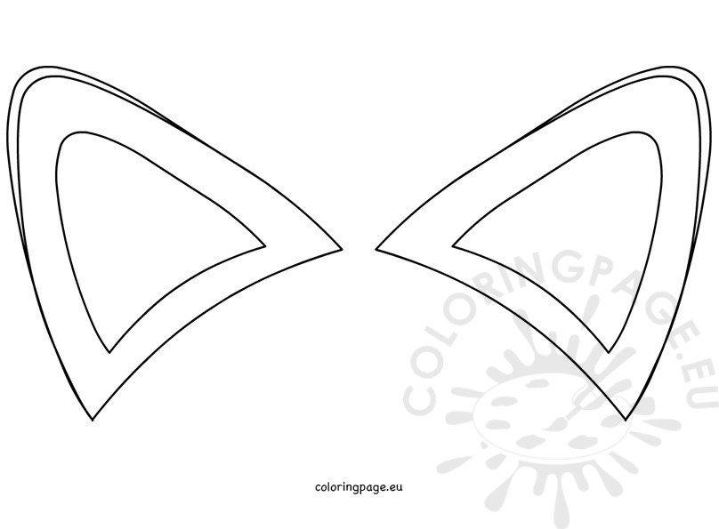 Fox ears template
