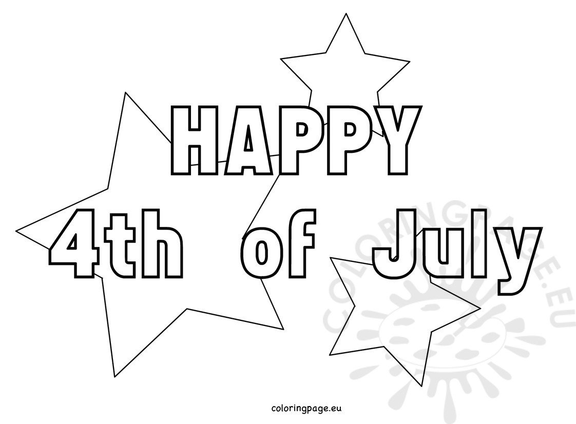 4th July Coloring Pages With Stars Coloring Page