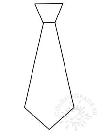Necktie Template. coloured ties collection. printable tie ...