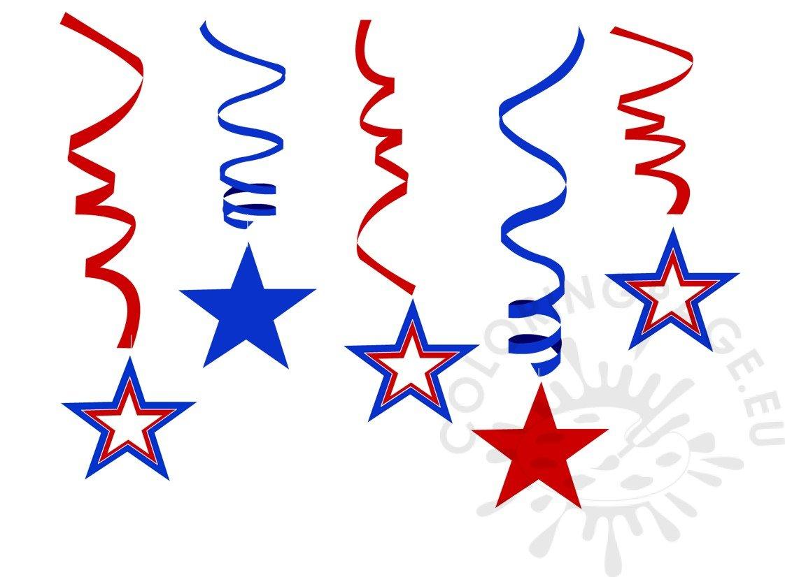 Patriotic Stars Printable Coloring Page
