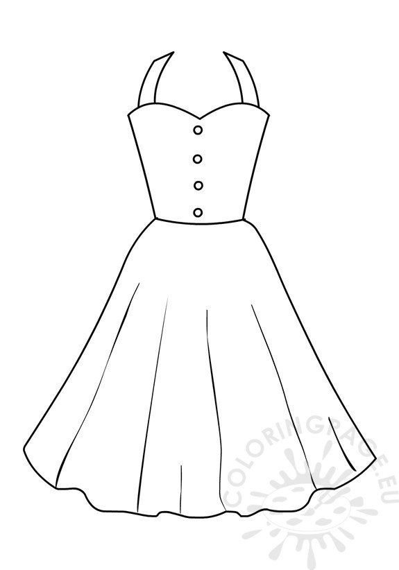 Coloring page girls Summer dresses for women