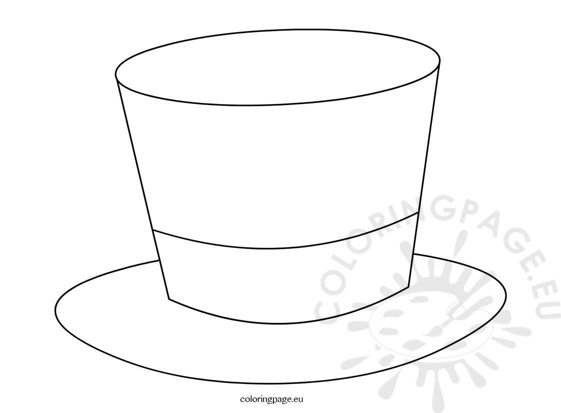 Top hat magician template