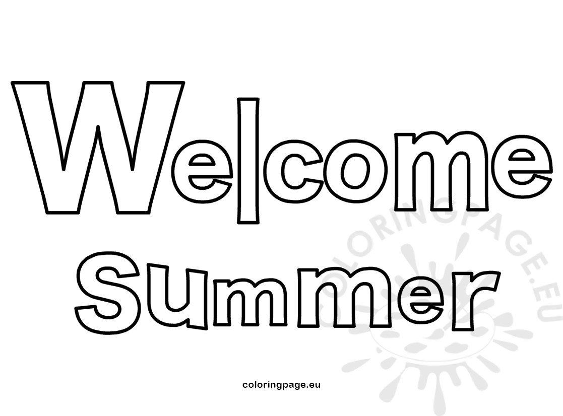 Welcome summer letters vector illustration