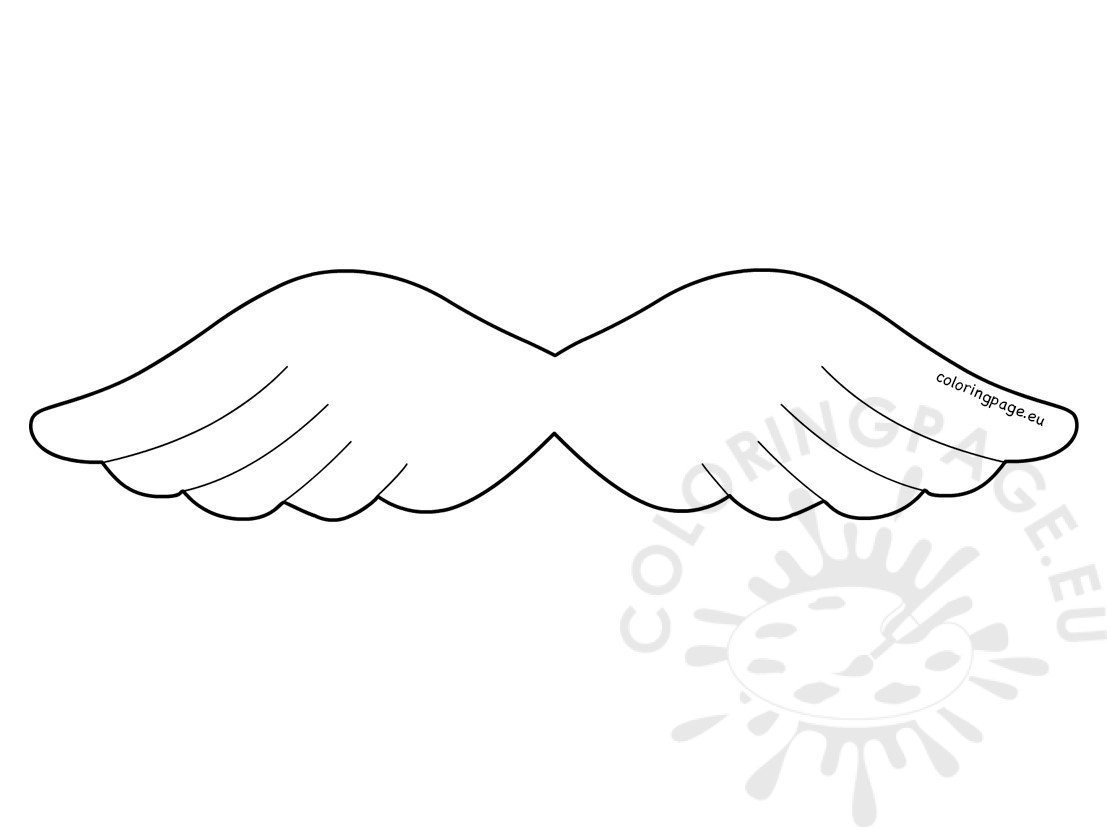 Angel Wing Christmas Template Coloring Page