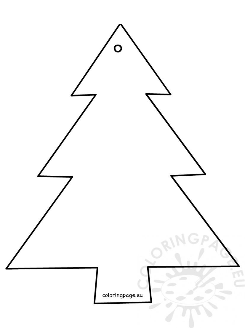 Christmas Tree Shape cut out