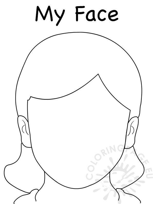 Face Blank Girl Template
