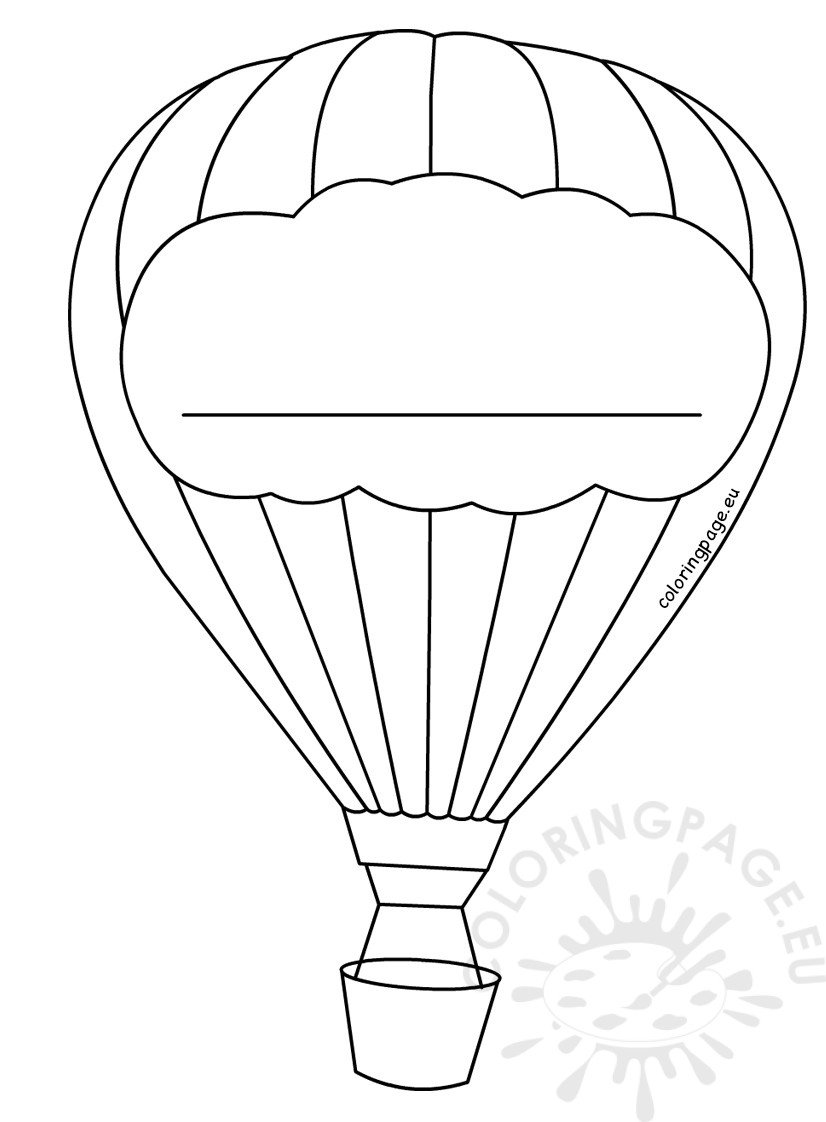 Hot Air Balloon Decoration template