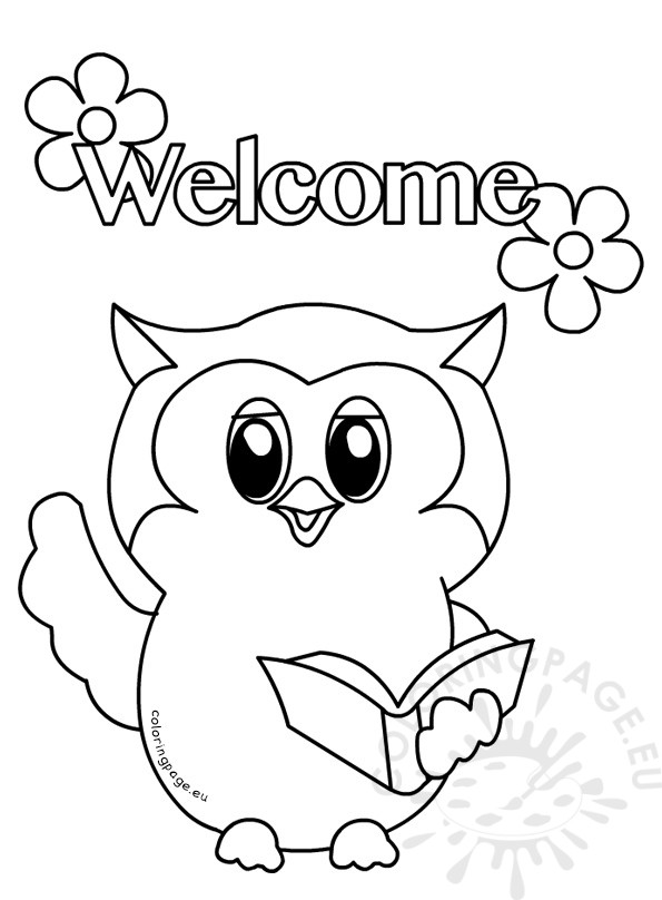 Owls Primary Classroom Colouring Page
